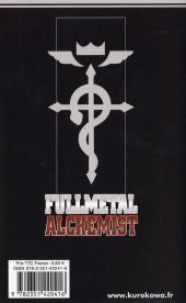 Verso de FullMetal Alchemist -4- Tome 4