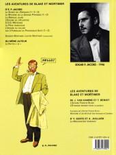 Verso de Blake et Mortimer (Les Aventures de) -2c2000- Le Secret de l'Espadon - Tome 2