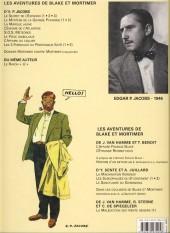 Verso de Blake et Mortimer (Les Aventures de) -3c2010- Le Secret de l'Espadon - Tome 3