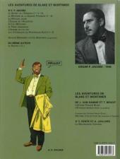 Verso de Blake et Mortimer (Les Aventures de) -7c2001- L'Enigme de l'Atlantide