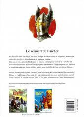 Verso de Le chevalier blanc -5a- Le serment de l'archer
