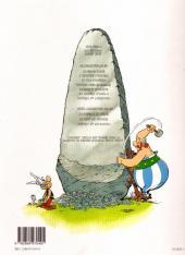 Verso de Astérix (Hors Série) -C03a- Le Coup du menhir - L'Album du film