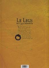 Verso de Le legs de l'alchimiste -4- Maître Helvetius