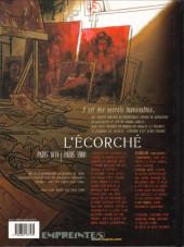 Verso de Secrets - L'écorché -1- L'écorché - 1
