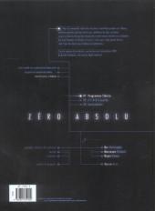 Verso de Zéro absolu -1a2006- Programme Siberia