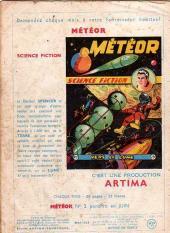 Verso de Météor (1re Série - Artima) -1- Les conquérants de l'espace
