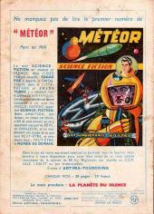 Verso de Météor (1re Série - Artima) -2- Vers la lune