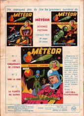 Verso de Météor (1re Série - Artima) -4- Aventure sur la Lune...