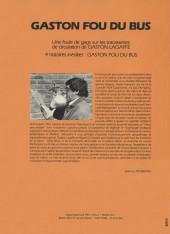 Verso de Gaston (Hors-série) -FB12- Fou du bus - CGFTE