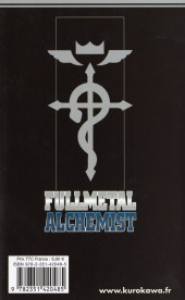 Verso de FullMetal Alchemist -8- Tome 8