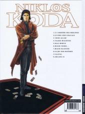 Verso de Niklos Koda -8- Le Jeu des Maîtres
