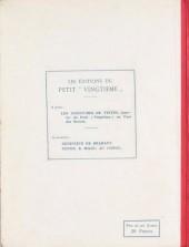 Verso de Quick et Flupke -1- (Petit vingtième) -1- Gamins de Bruxelles