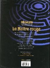 Verso de Le maître Rouge -1- L'ange du château