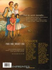 Verso de Secrets - L'écharde -2- Tome 2