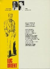Verso de Luc Orient -5c81- La forêt d'acier