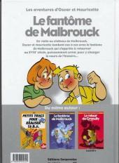 Verso de Oscar et Mauricette (Les aventures d') -1- Le fantôme de Malbrouck