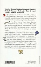 Verso de Tintin - Divers - Céline, Hergé et l'Affaire Haddock