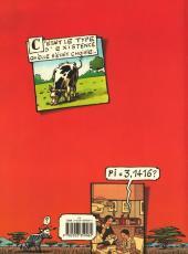 Verso de La vache -2- À mort l'homme, vive l'ozone