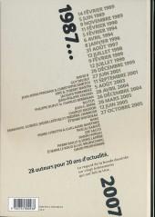 Verso de Le jour où... -1- 1987-2007 : France Info, 20 ans d'actualité