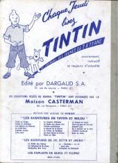 Verso de (Recueil) Tintin (Album du journal - Édition française) -58- Tintin album du journal