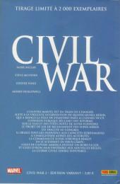 Verso de Civil War - Tome 2VC