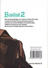Verso de Basilisk -2- Tome 2