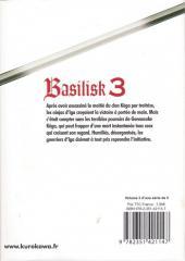 Verso de Basilisk -3- Tome 3
