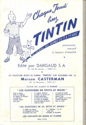 Verso de (Recueil) Tintin (Album du journal - Édition française) -47- Tintin album du journal