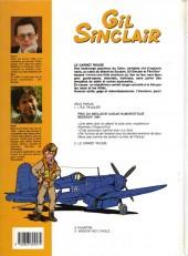 Verso de Gil Sinclair -2- le carnet rouge