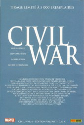 Verso de Civil War - Tome 4VC