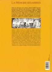 Verso de La mémoire des arbres -1- La hache et le fusil - tome 1