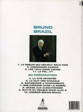 Verso de Bruno Brazil -3d1996- Les yeux sans visage