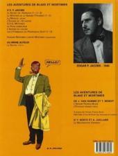 Verso de Blake et Mortimer (Les Aventures de) -4c2000- Le Mystère de la Grande Pyramide - Tome 1