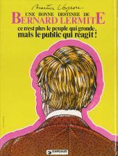 Verso de Bernard Lermite -5- Ce n'est plus le peuple qui gronde, mais le public qui réagit !