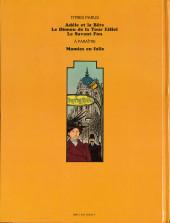 Verso de Adèle Blanc-Sec (Les Aventures Extraordinaires d') -3- Le Savant Fou
