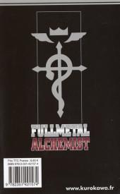 Verso de FullMetal Alchemist -13- Tome 13