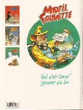 Verso de Myrtil Fauvette -3- Contre Mister Clean