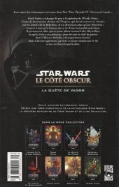 Verso de Star Wars - Le côté obscur -3a06- La Quête de Vador