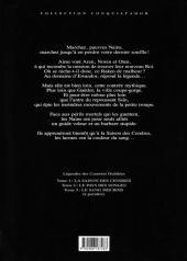 Verso de Légendes des contrées oubliées -1a- La saison des cendres