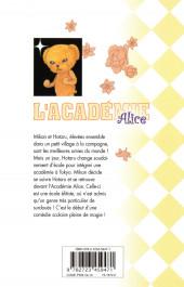 Verso de L'académie Alice -1- Tome 1