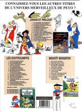 Verso de Johan et Pirlouit -14a2000- La horde du corbeau