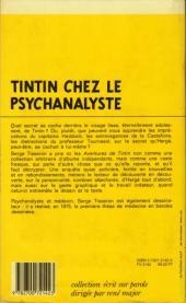 Verso de (AUT) Hergé -75- Tintin chez le psychanalyste