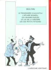 Verso de Tintin - Pastiches, parodies & pirates -PIR- Tintin et les oranges bleues