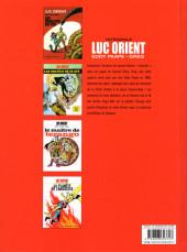 Verso de Luc Orient (Intégrale Le Lombard) -1- Intégrale 1