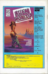 Verso de Twisted tales (Pacific comics - 1982) -1- Issue # 1