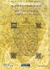 Verso de Une Aventure de Doménico -1- Le secret de Nikobus Kéton