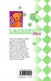 Verso de L'académie Alice -3- Tome 3