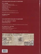 Verso de Blake et Mortimer -18- Le Sanctuaire du Gondwana