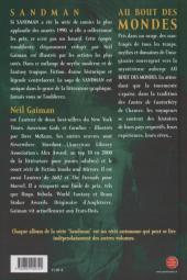 Verso de Sandman -8- Au bout des mondes