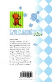 Verso de L'académie Alice -5- Tome 5